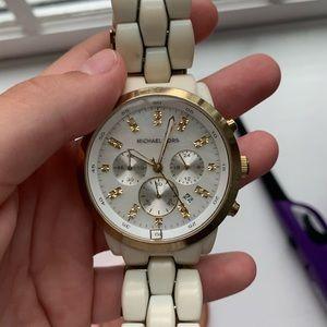 Vintage White MK watch